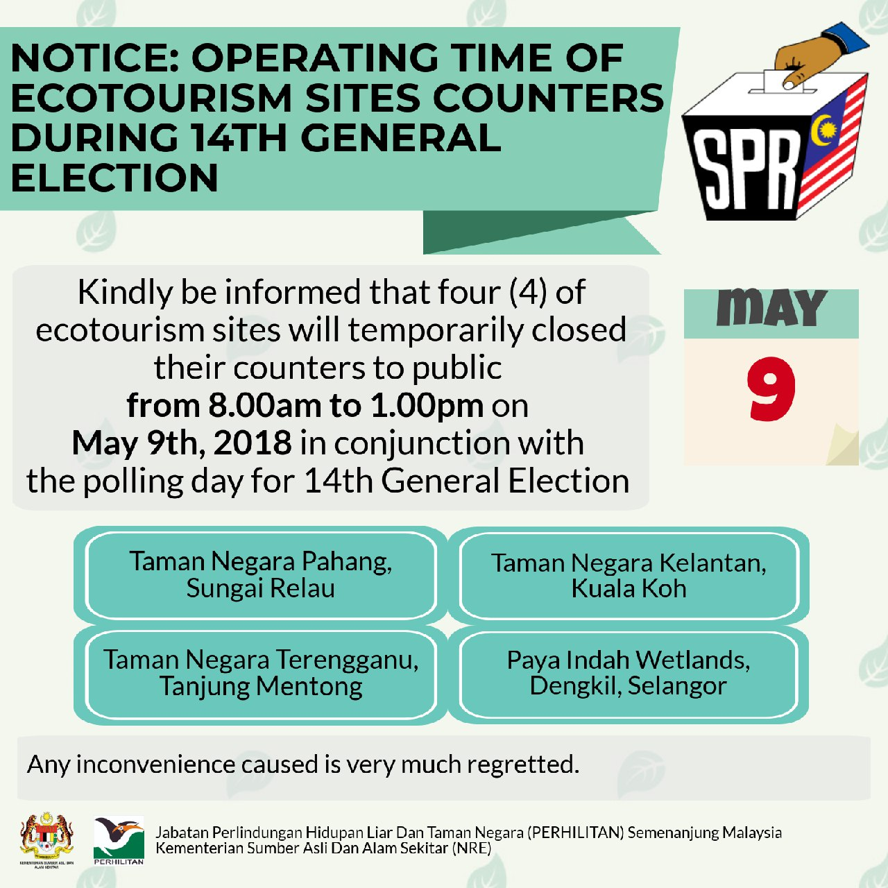 POSTER NOTICE GE14